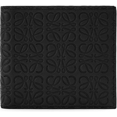 Loewe Logo Embossed Calfskin Leather Bifold Wallet -
