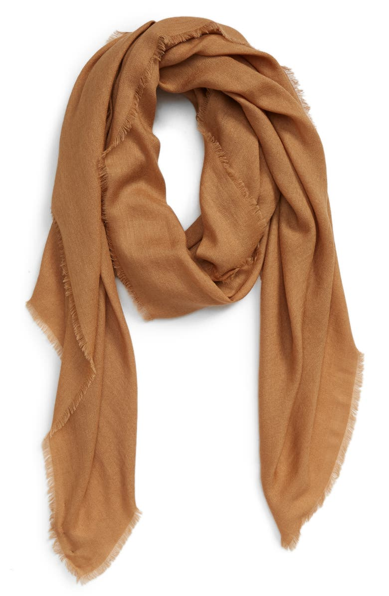 MAX MARA Eracle Cashmere & Silk Scarf, Main, color, CAMEL
