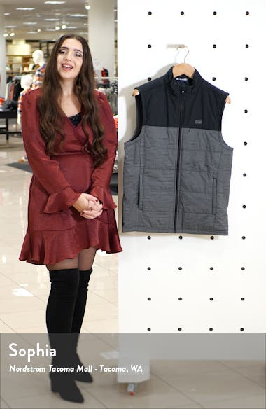 Crawford Colorblock Quilted Vest, sales video thumbnail