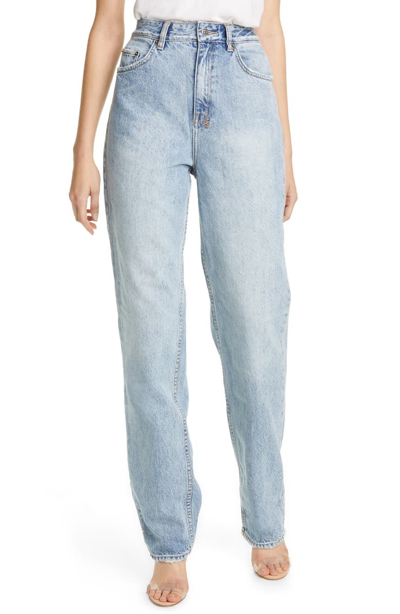 KSUBI Playback Karma High Waist Straight Leg Jeans, Main, color, 400