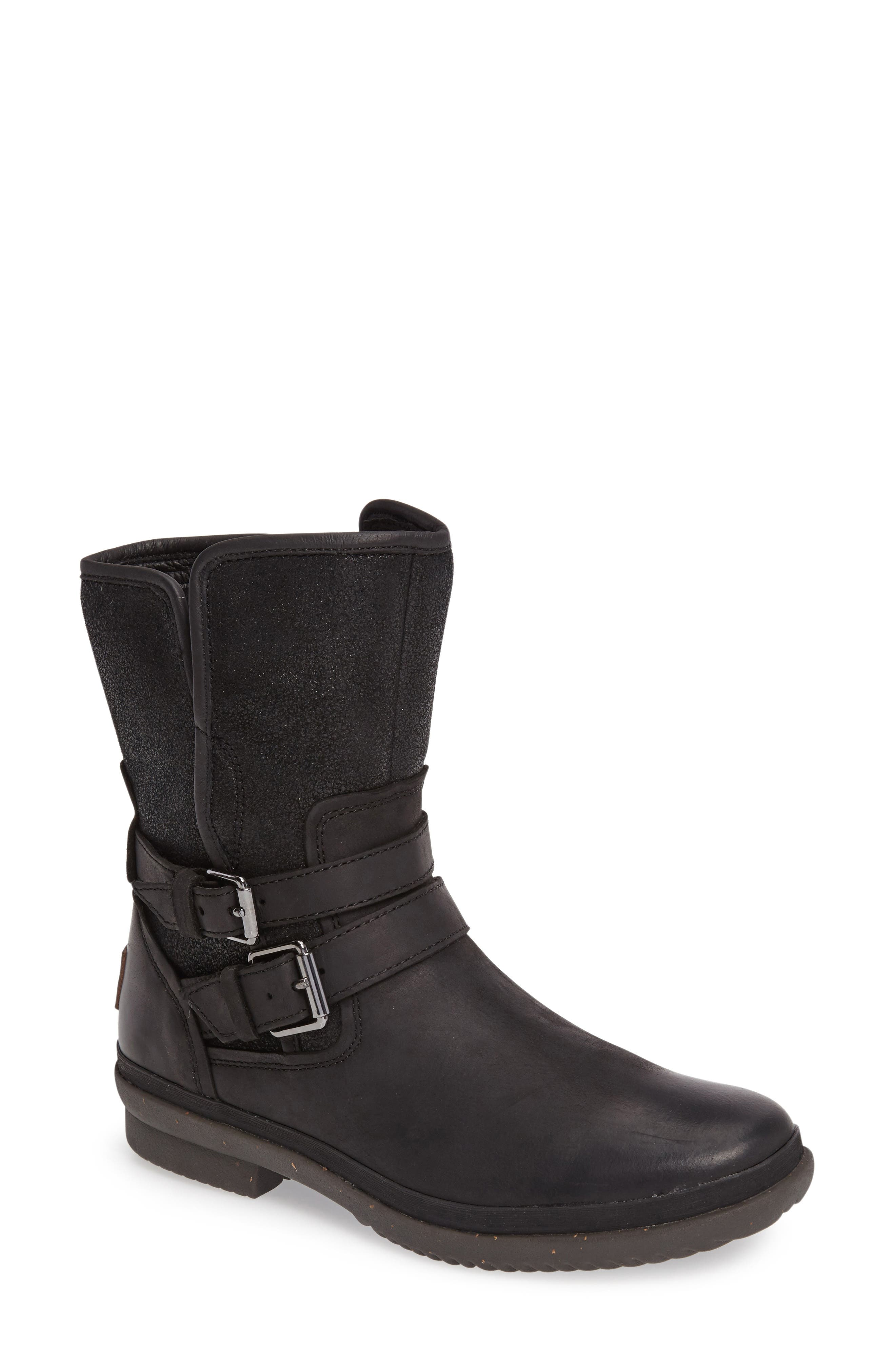 UGG Simmens Genuine Shearling Lined Waterproof Leather Boot