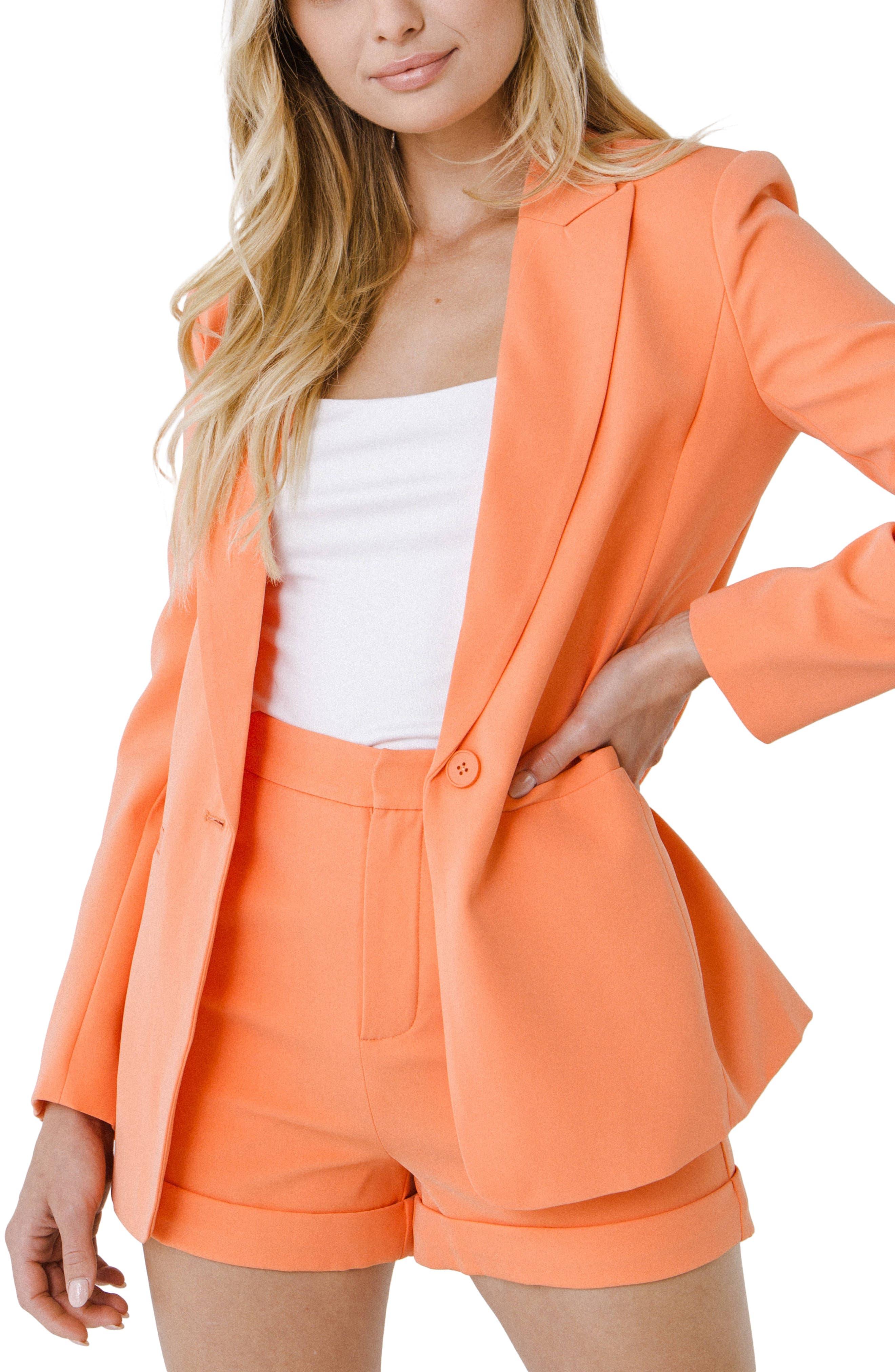 Tailored Single Button Blazer