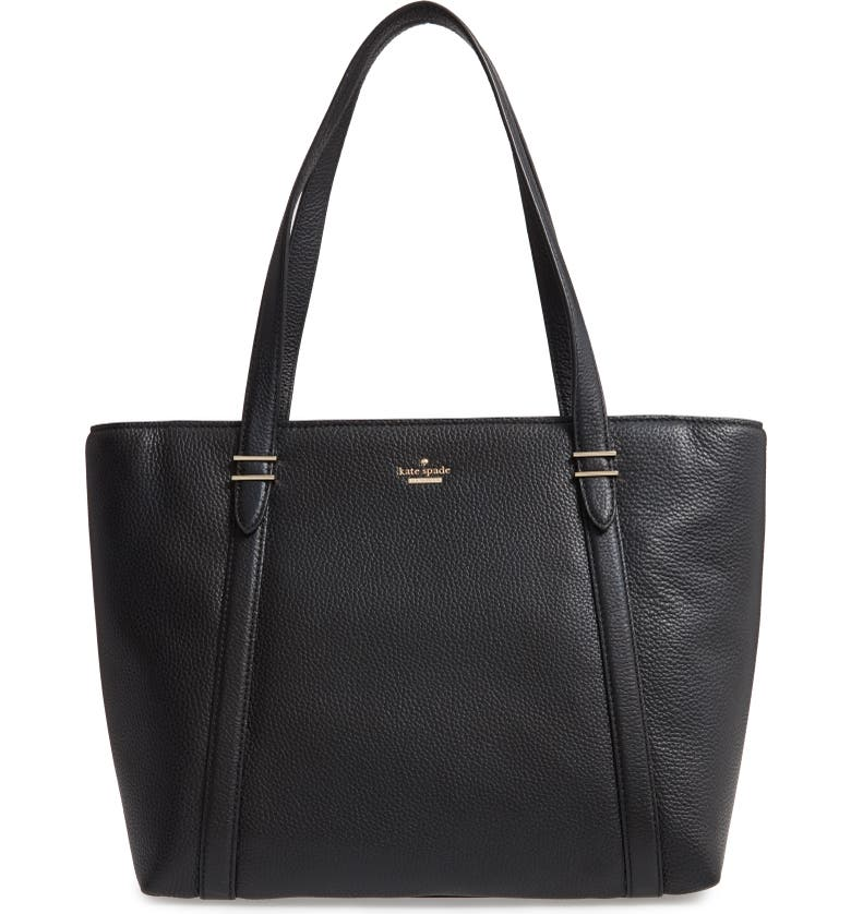 KATE SPADE NEW YORK oakwood street chandra leather tote, Main, color, BLACK