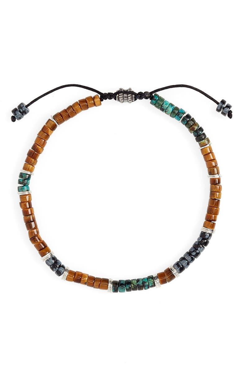 JONAS STUDIO Stone Bead Bracelet, Main, color, BROWN