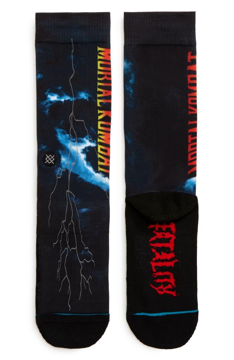 STANCE Mortal Kombat II Socks, Main, color, BLACK