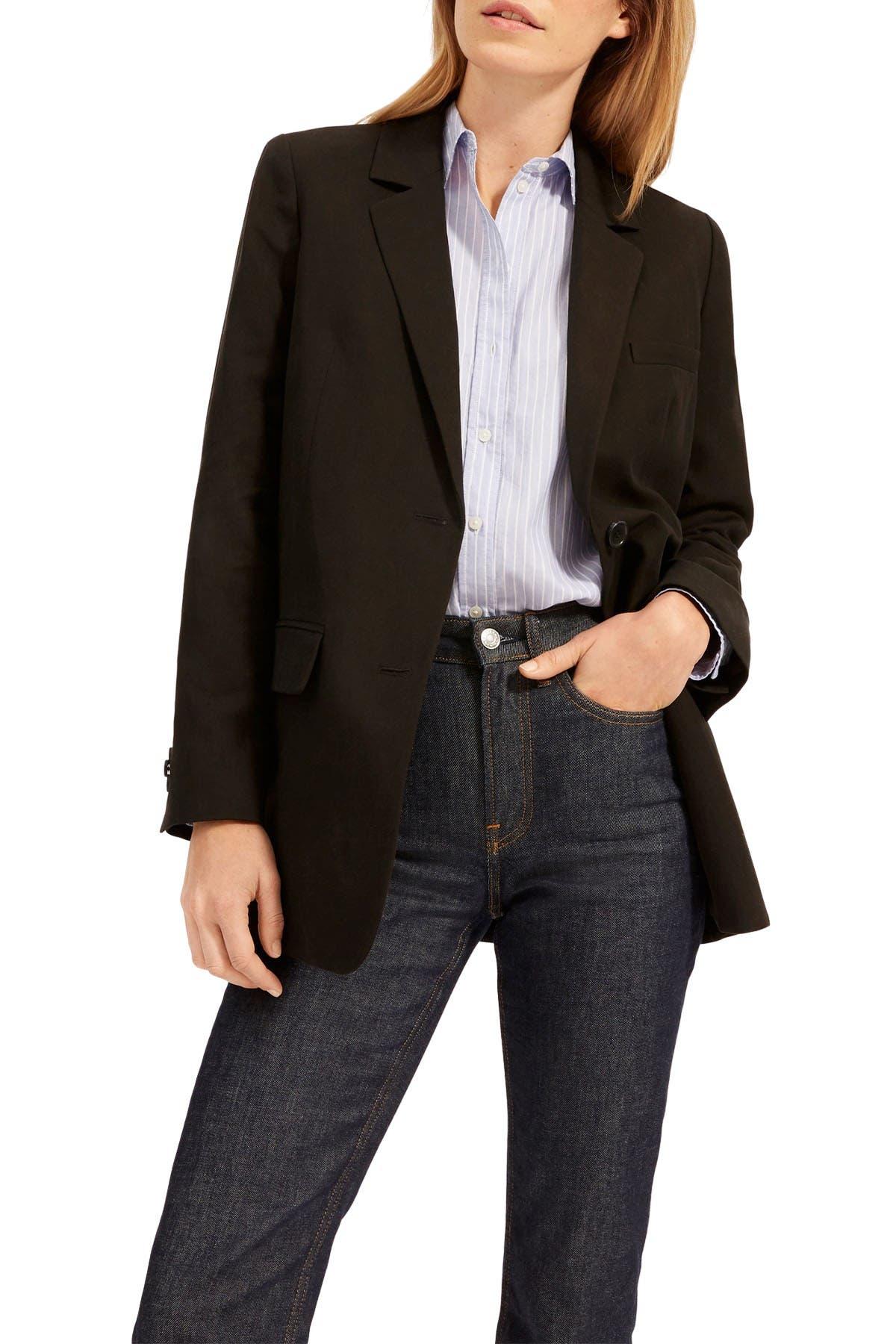Image of EVERLANE The Cotton-Linen Blazer