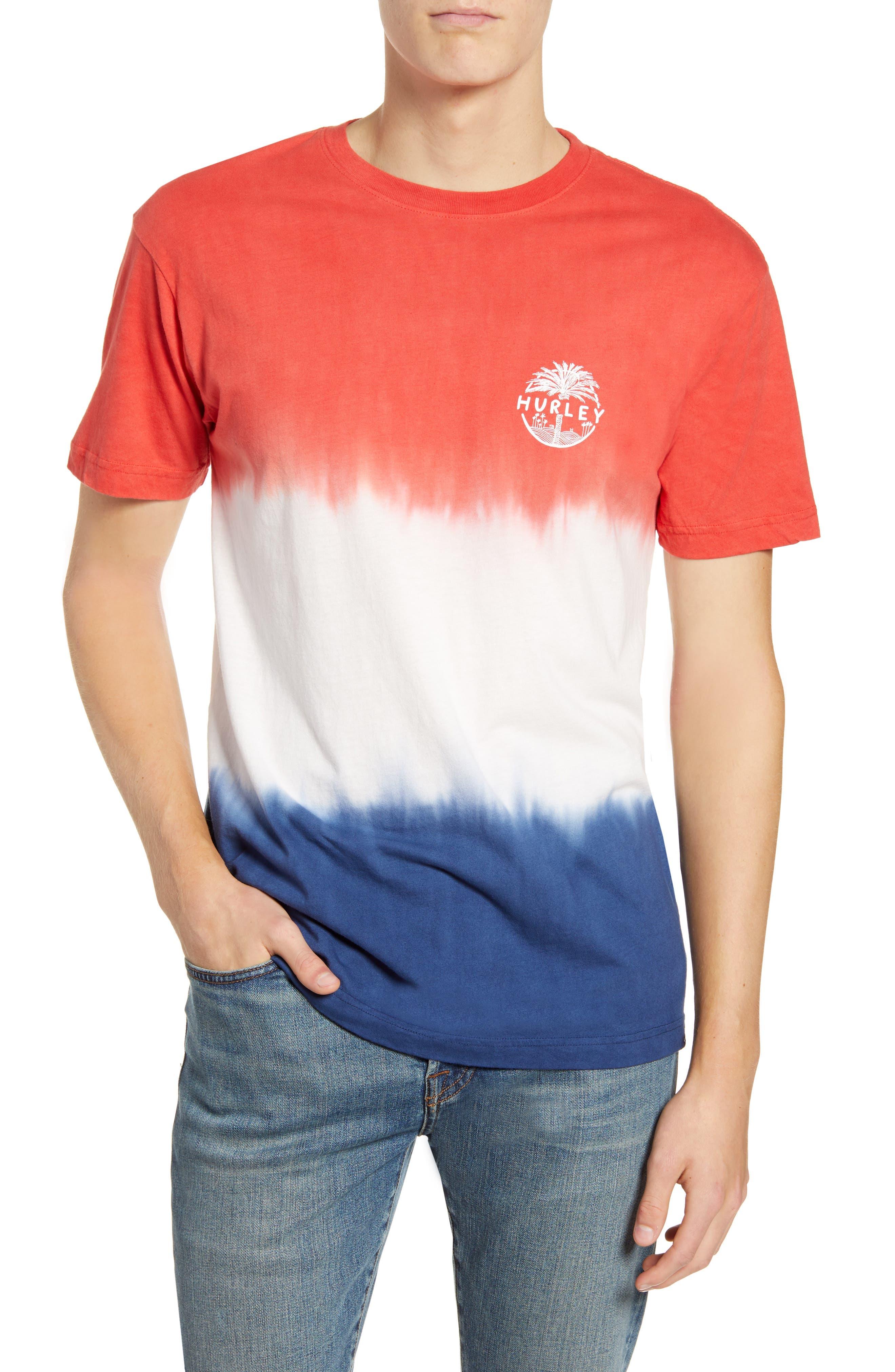 Hurley Usa Palmer Tie Dye T-Shirt, Red