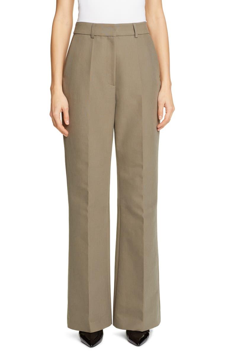 PARTOW Emilio Wide Leg Cotton Pants, Main, color, SAGE