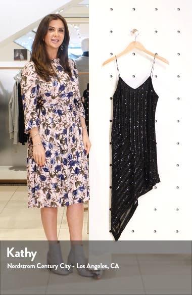 Sequin Stripe Asymmetrical Cocktail Dress, sales video thumbnail