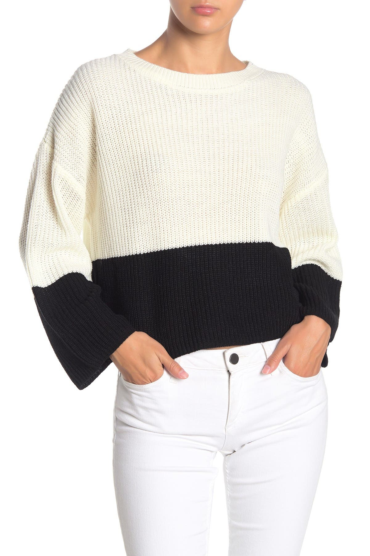 Image of Love by Design Colorblock Knit Pullover Sweater