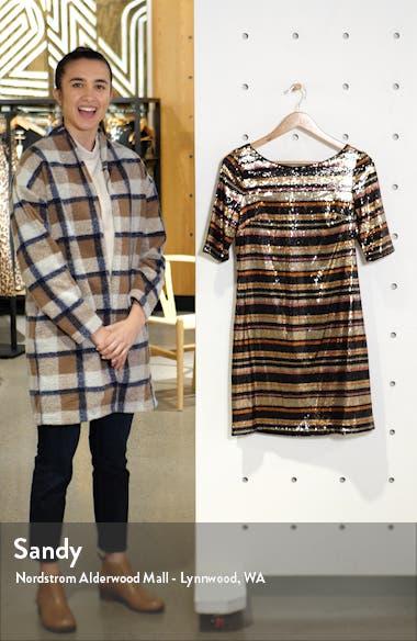 Sequin Multi Stripe Shift Dress, sales video thumbnail