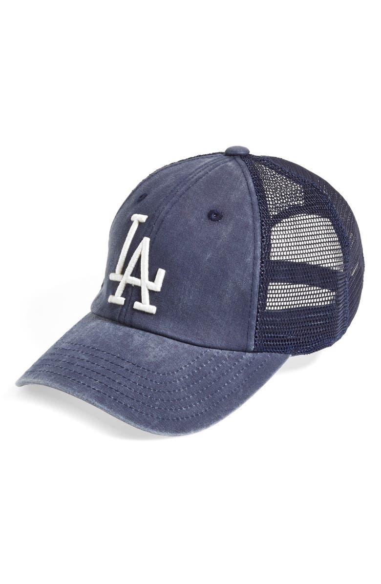 b052e838 'Los Angeles Dodgers - Raglan Bones' Mesh Trucker Cap
