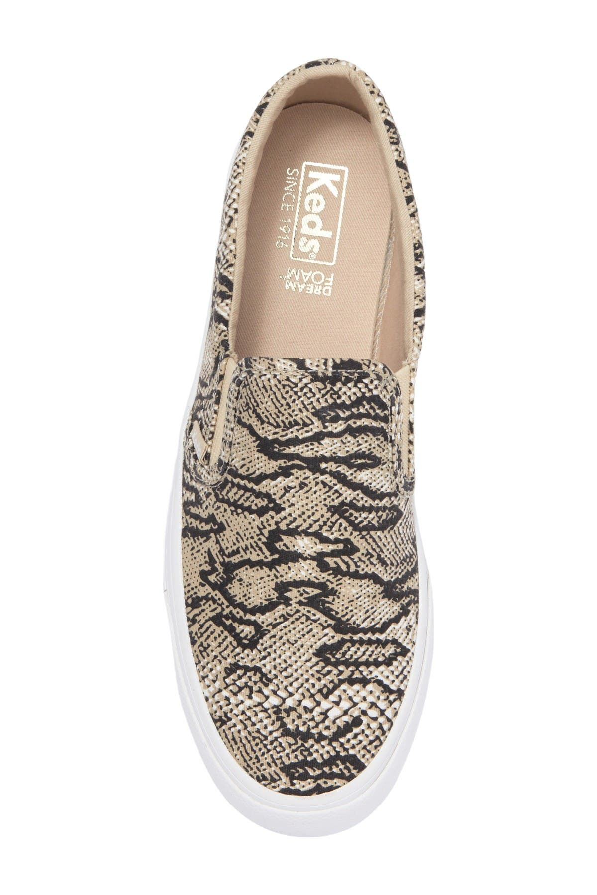 Image of Keds Jump Kick Snake Print Slip-On Sneaker