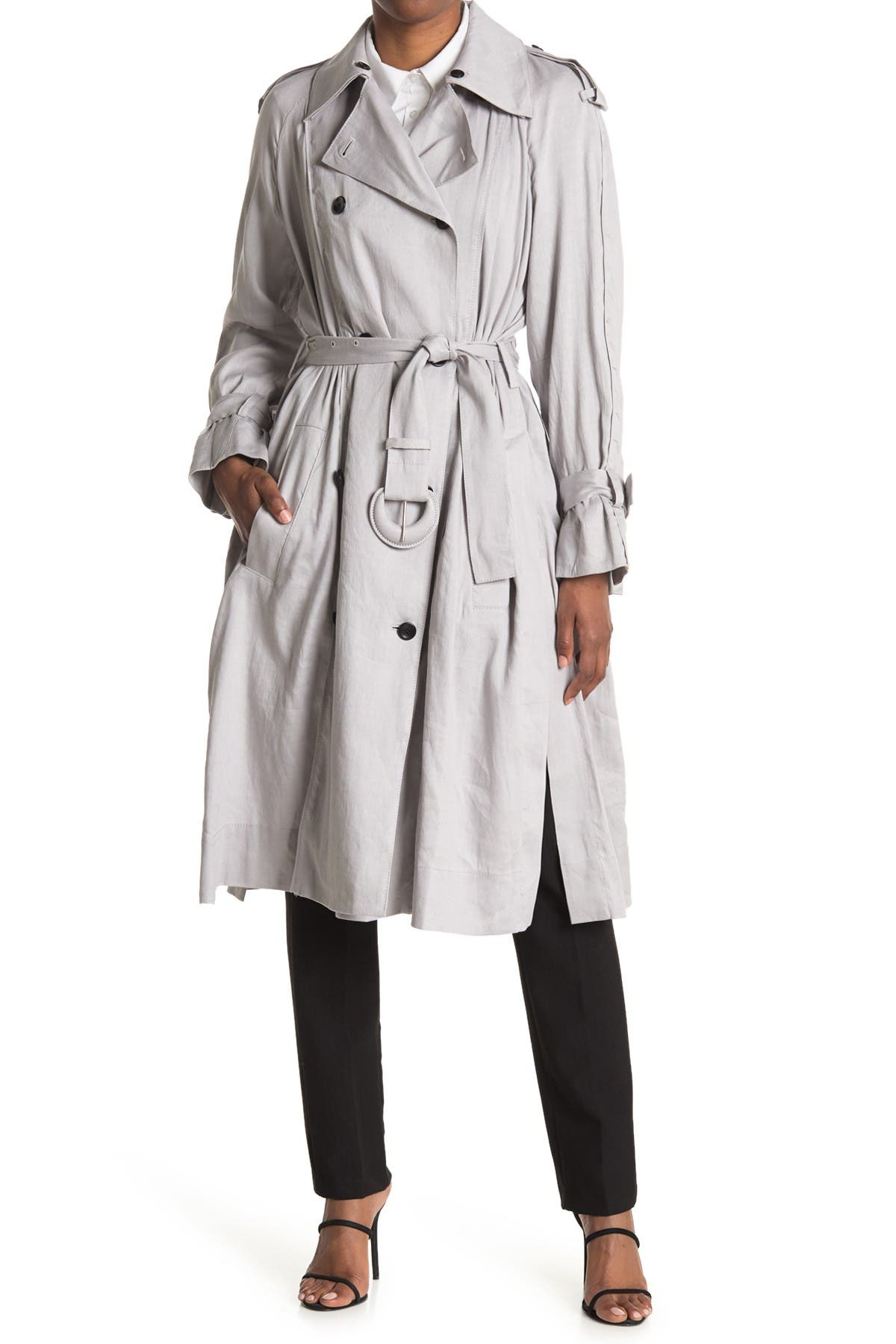 Image of Proenza Schouler Belted Double Breasted Trench Coat