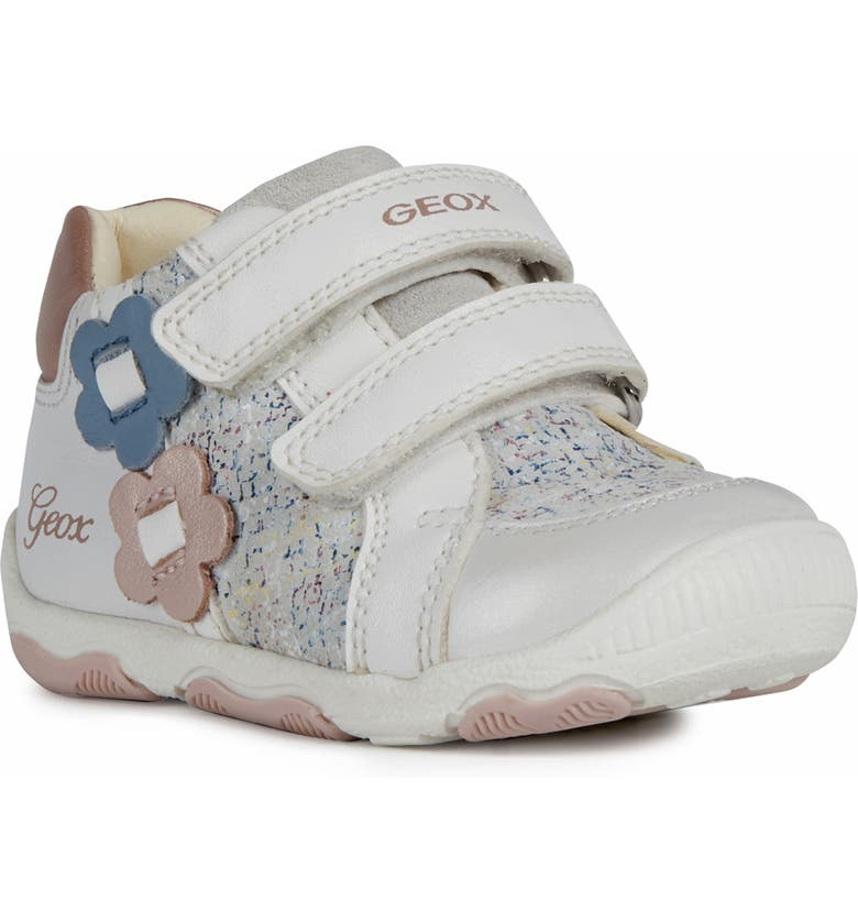 GEOX New Balu 24 Metallic Sneaker, Main, color, WHITE