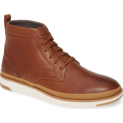Hush Puppies Caleb Plain Toe Boot W - Brown