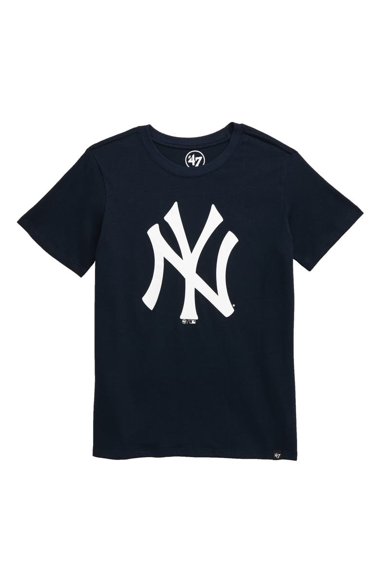 '47 Super Rival New York Yankees T-Shirt, Main, color, FALL NAVY