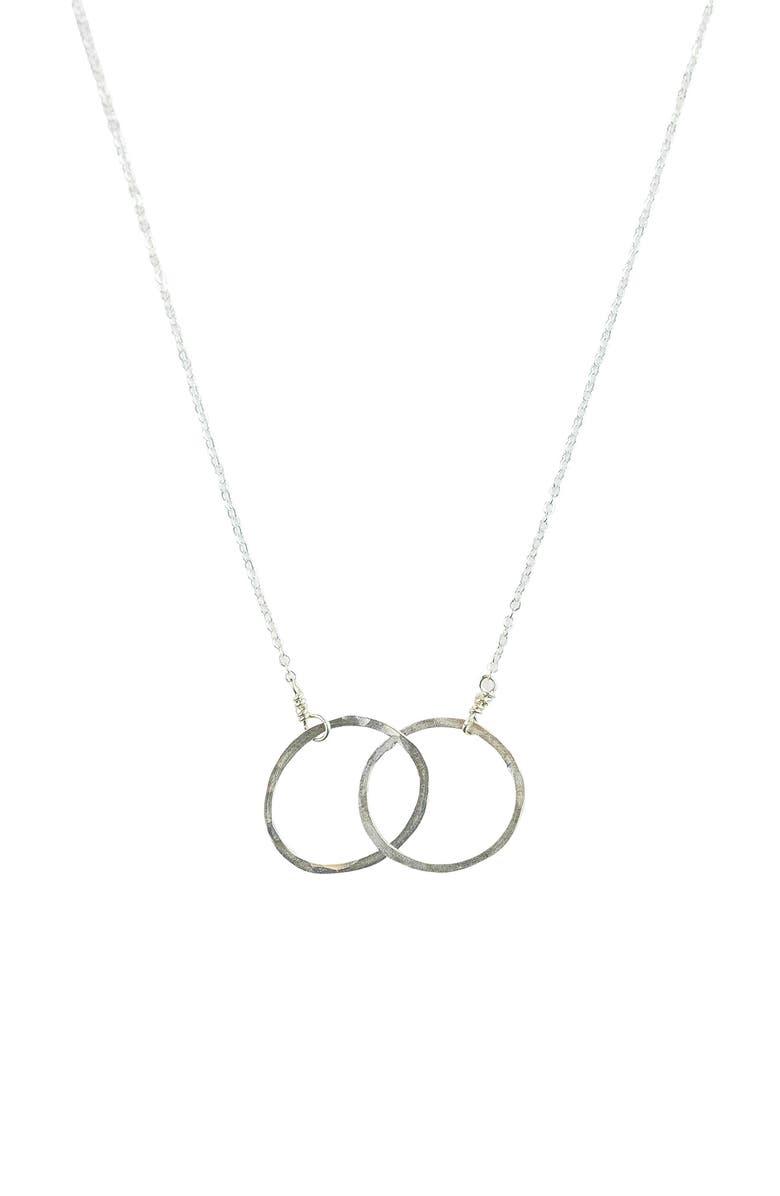 NASHELLE Eternity Hoop Necklace, Main, color, SILVER