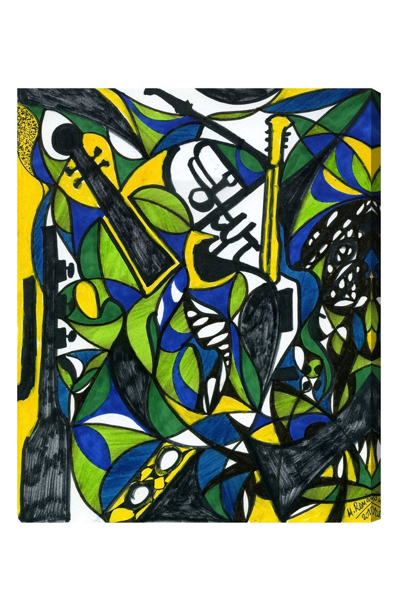 OLIVER GAL The Musicians Canvas Wall Art, Main, color, YELLOW