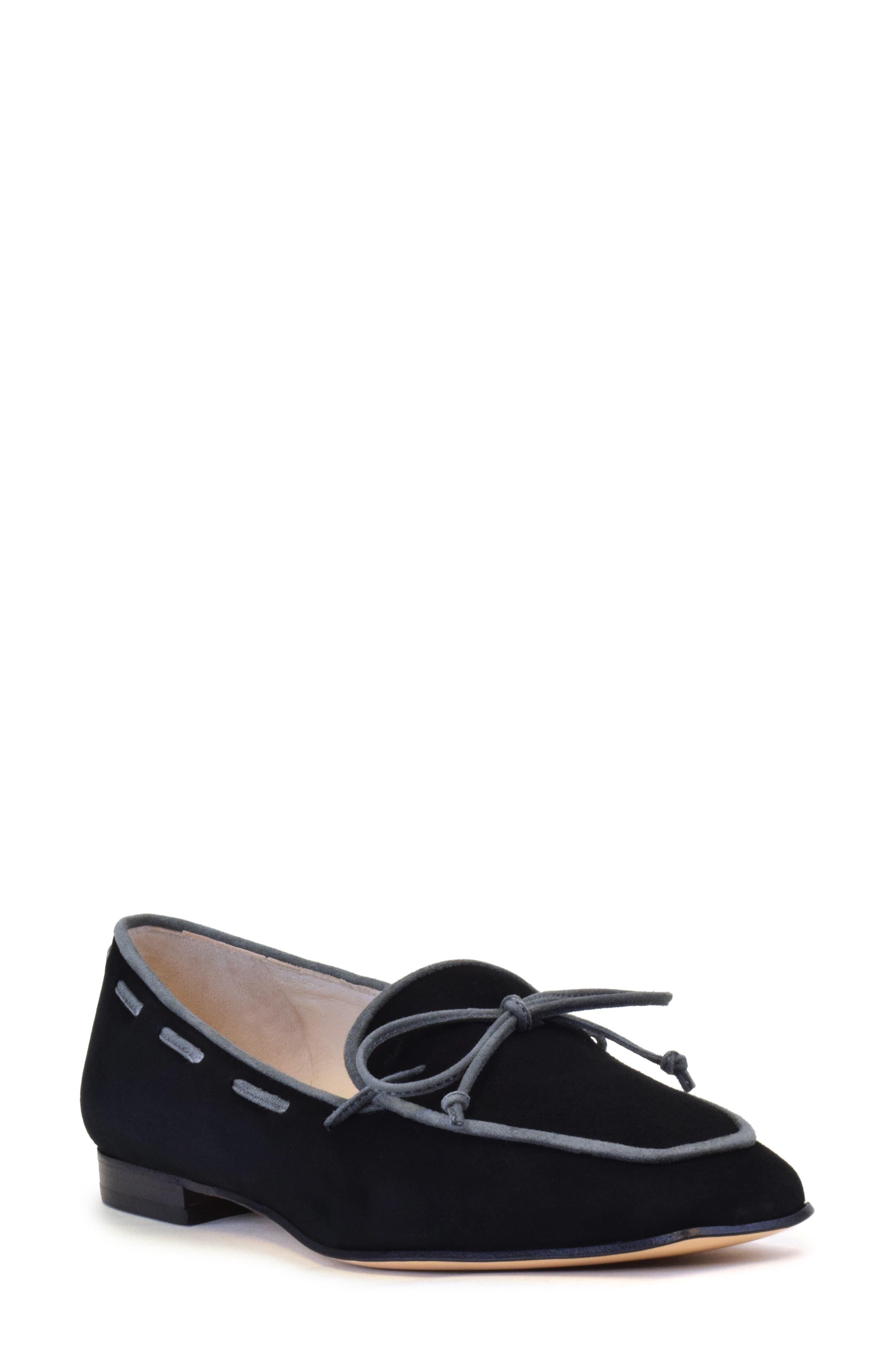 Piping trim and a bow polish this velvety-smooth Italian-crafted loafer designed with a low heel, plush padding and a nonskid sole. Style Name: Amalfi By Rangoni Genio Loafer (Women). Style Number: 6103472. Available in stores.