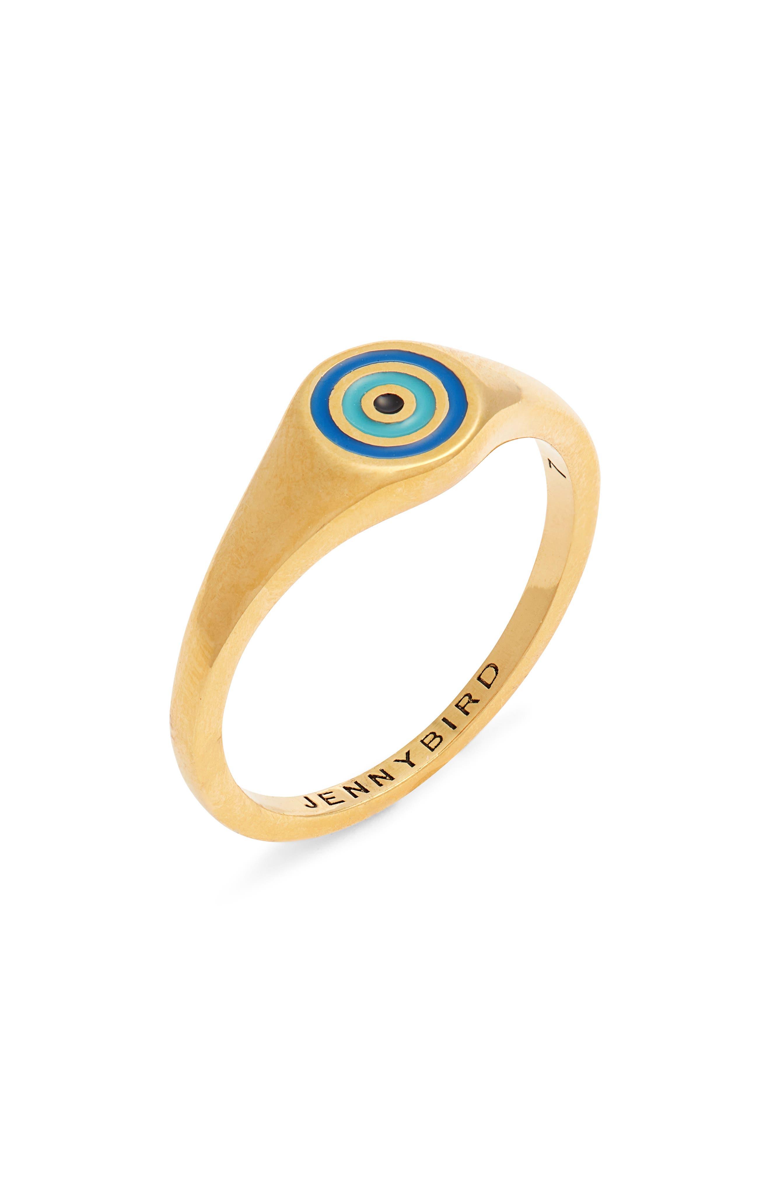 Evil Eye Signet Ring