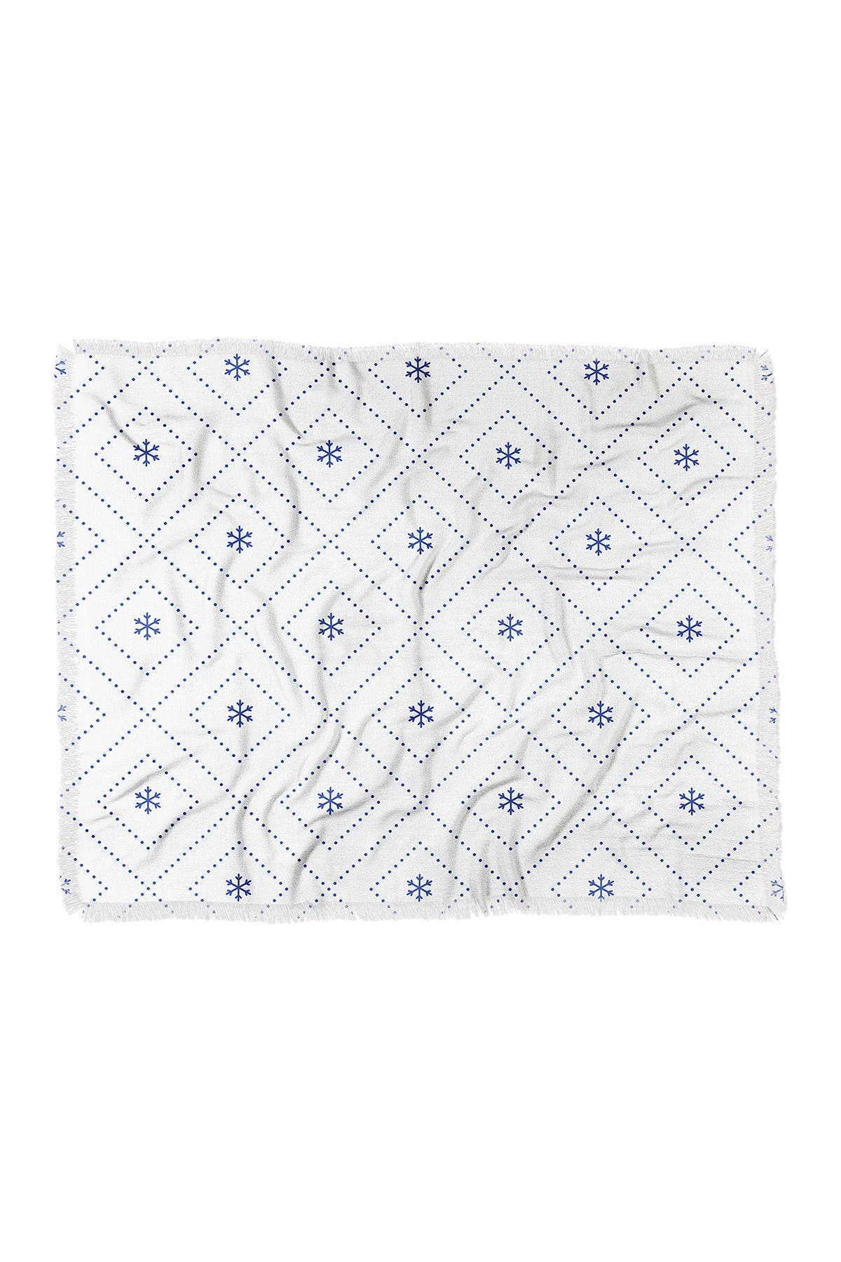 "Image of Deny Designs Lara Kulpa Dreamy Classic Blue Woven Throw Blanket - 60"" x 50"""