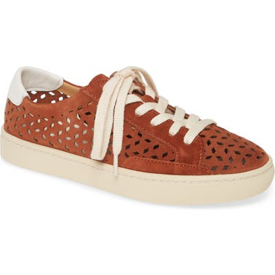 Soludos Ibiza Perforated Sneaker, Brown
