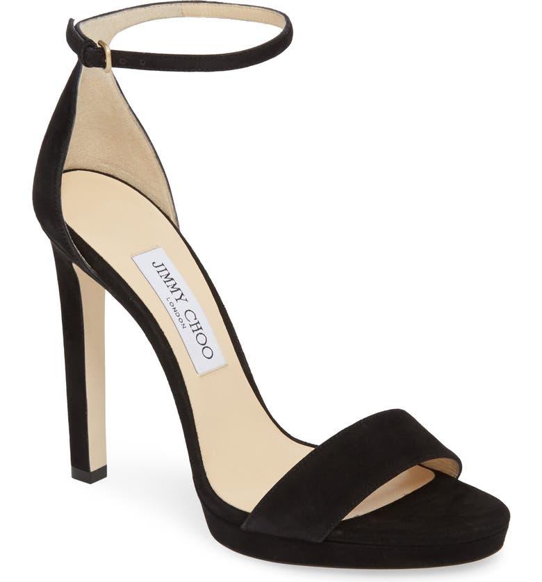 JIMMY CHOO Misty Platform Sandal, Main, color, BLACK