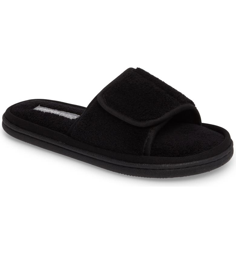 TEMPUR-PEDIC<SUP>®</SUP> Geana Slipper, Main, color, BLACK FABRIC