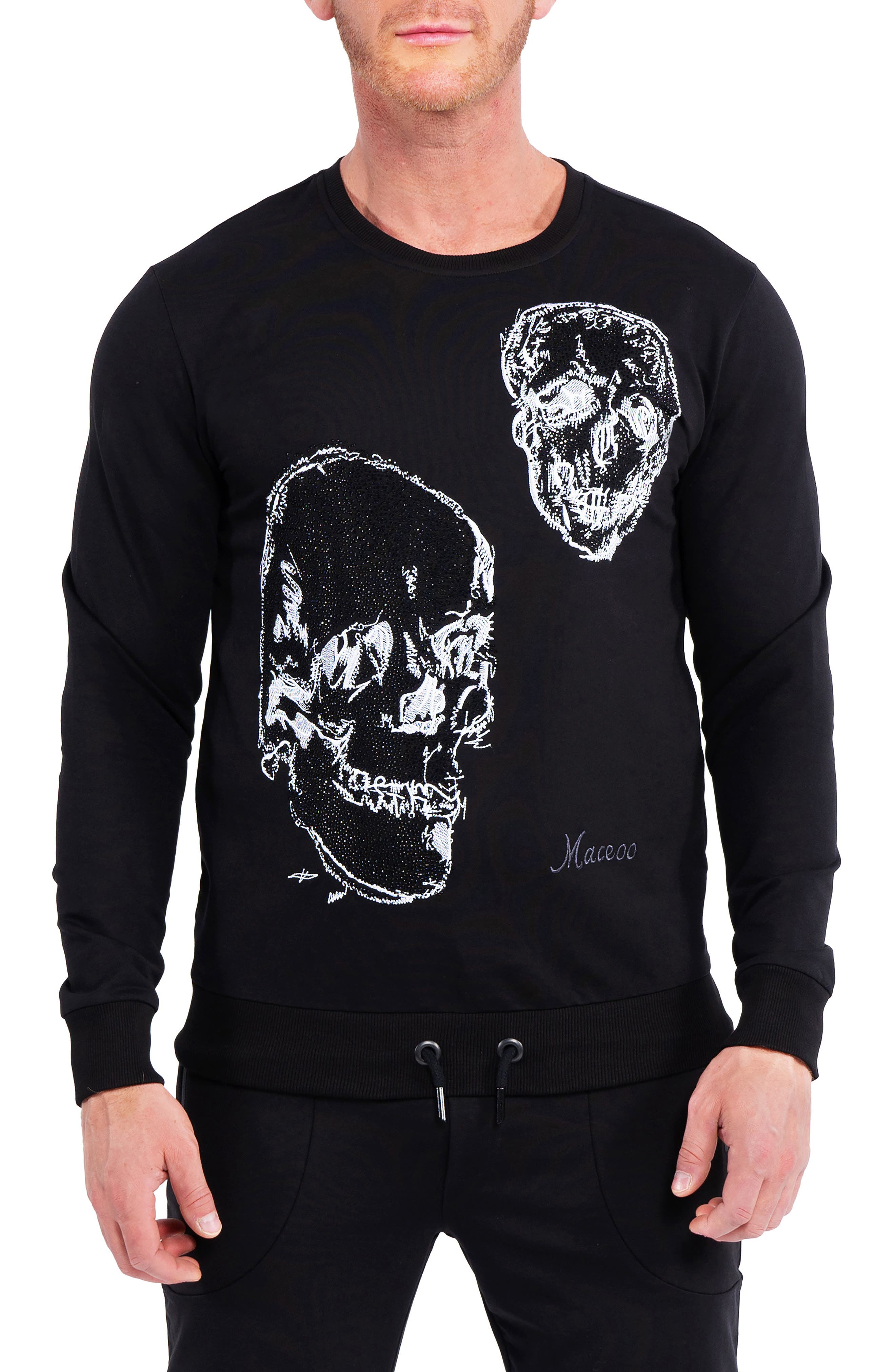 Double Skull Graphic Sweater