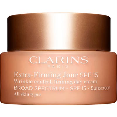 Clarins Extra-Firming Wrinkle Control Firming Day Cream Broad Spectrum 15 For All Skin Types