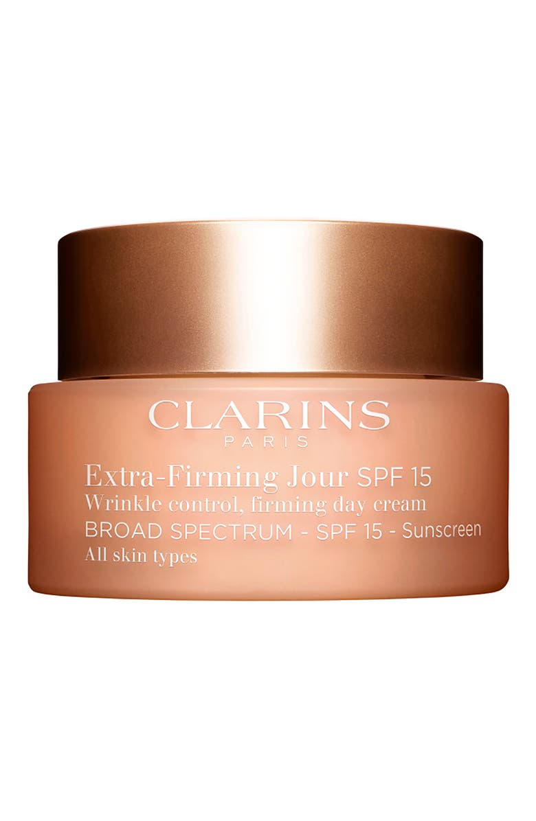 CLARINS Extra-Firming Wrinkle Control Firming Day Cream Broad Spectrum 15 for All Skin Types, Main, color, NO COLOR