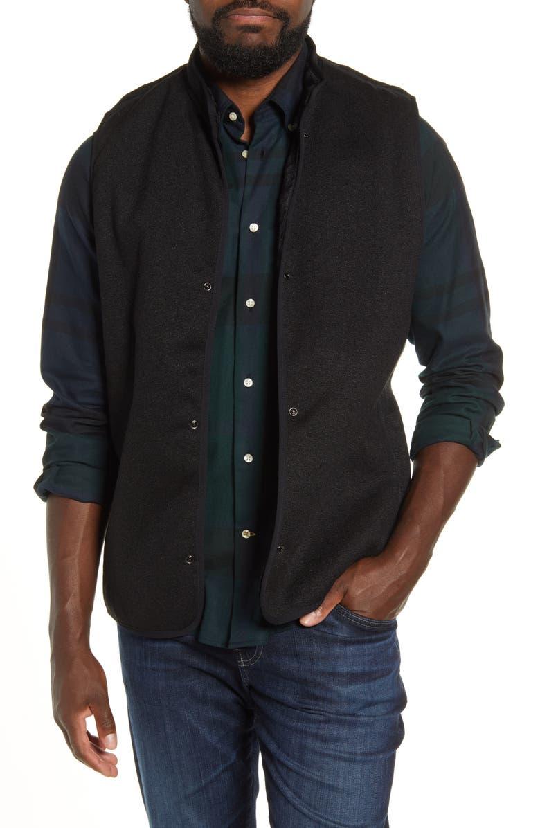 BARBOUR Icons Liner Vest, Main, color, BLACK