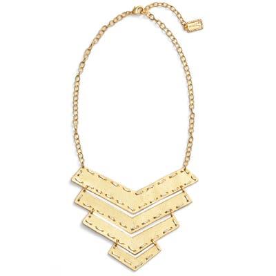 Karine Sultan Chevron Pendant Necklace