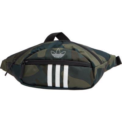 Adidas National 3-Stripes Belt Bag - Green