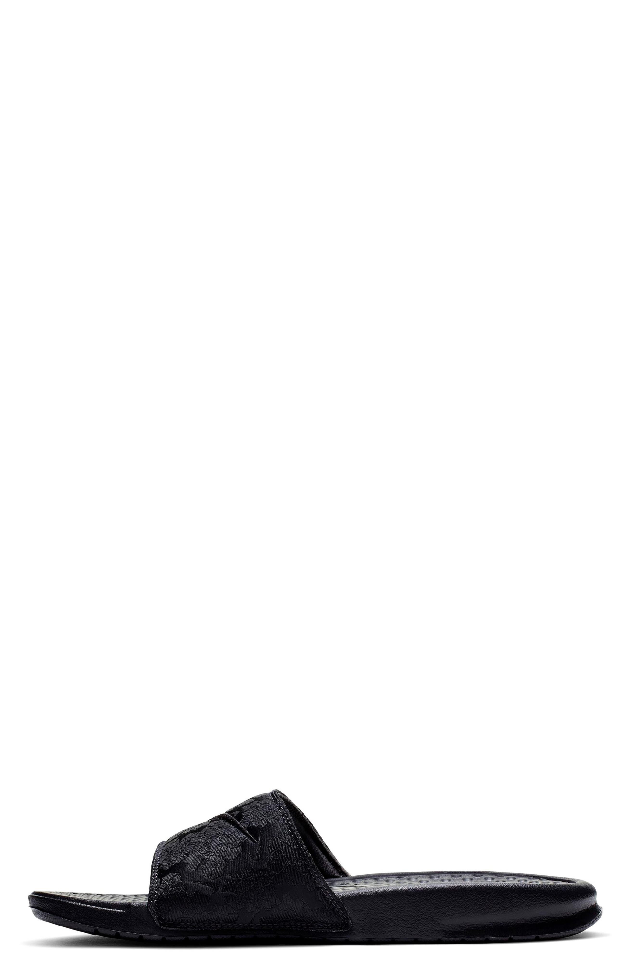 ,                             Benassi JDI Textile SE Slide Sandal,                             Alternate thumbnail 2, color,                             BLACK/ BLACK/ OIL GREY