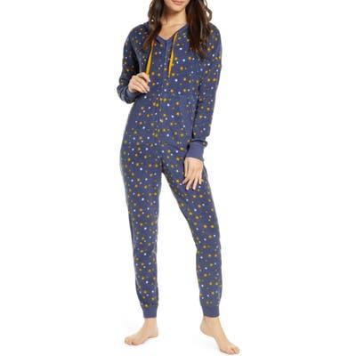 Bp. Microfleece Hooded Jumpsuit Pajamas, Blue
