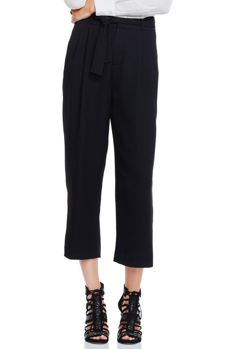 VINCE CAMUTO Front Pleat Soft Belted Pants, Main, color, 001