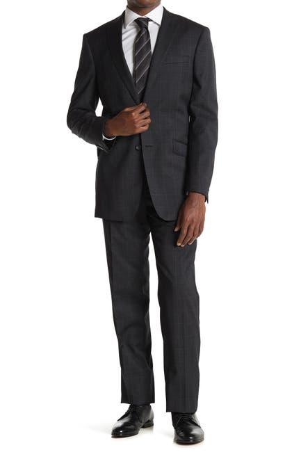 Image of English Laundry Grey Windowpane Two Button Notch Lapel Suit