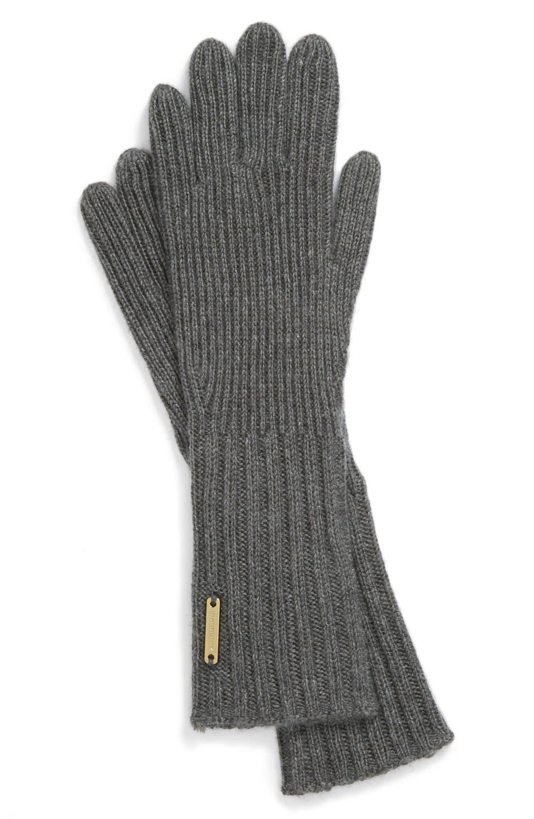 ,                             Cashmere Blend Touch Tech Knit Gloves,                             Main thumbnail 3, color,                             020