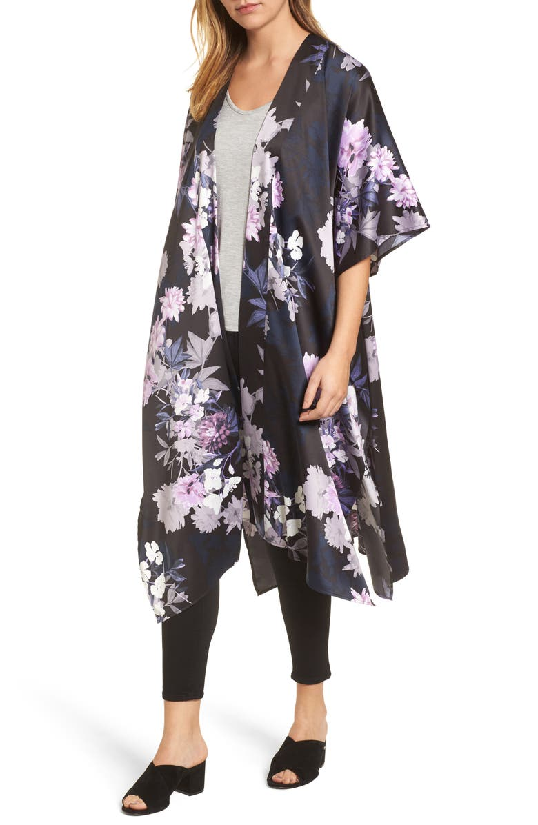 NORDSTROM Floral Duster, Main, color, 001