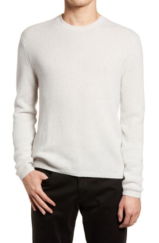 Vince Crewneck Cashmere Sweater In H White
