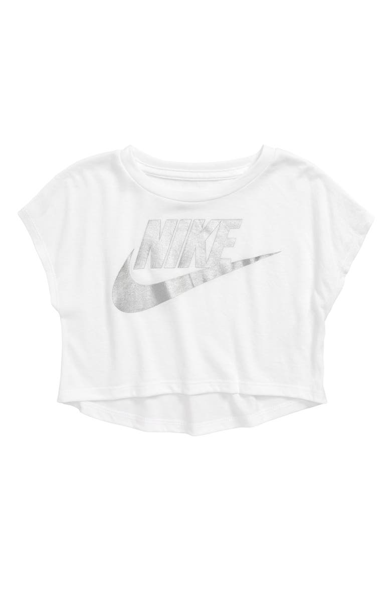 NIKE Logo Graphic Tee, Main, color, WHITE