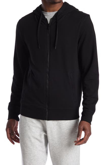 Image of 90 Degree By Reflex Brushed Knit Fleece Lined Zip Hoodie