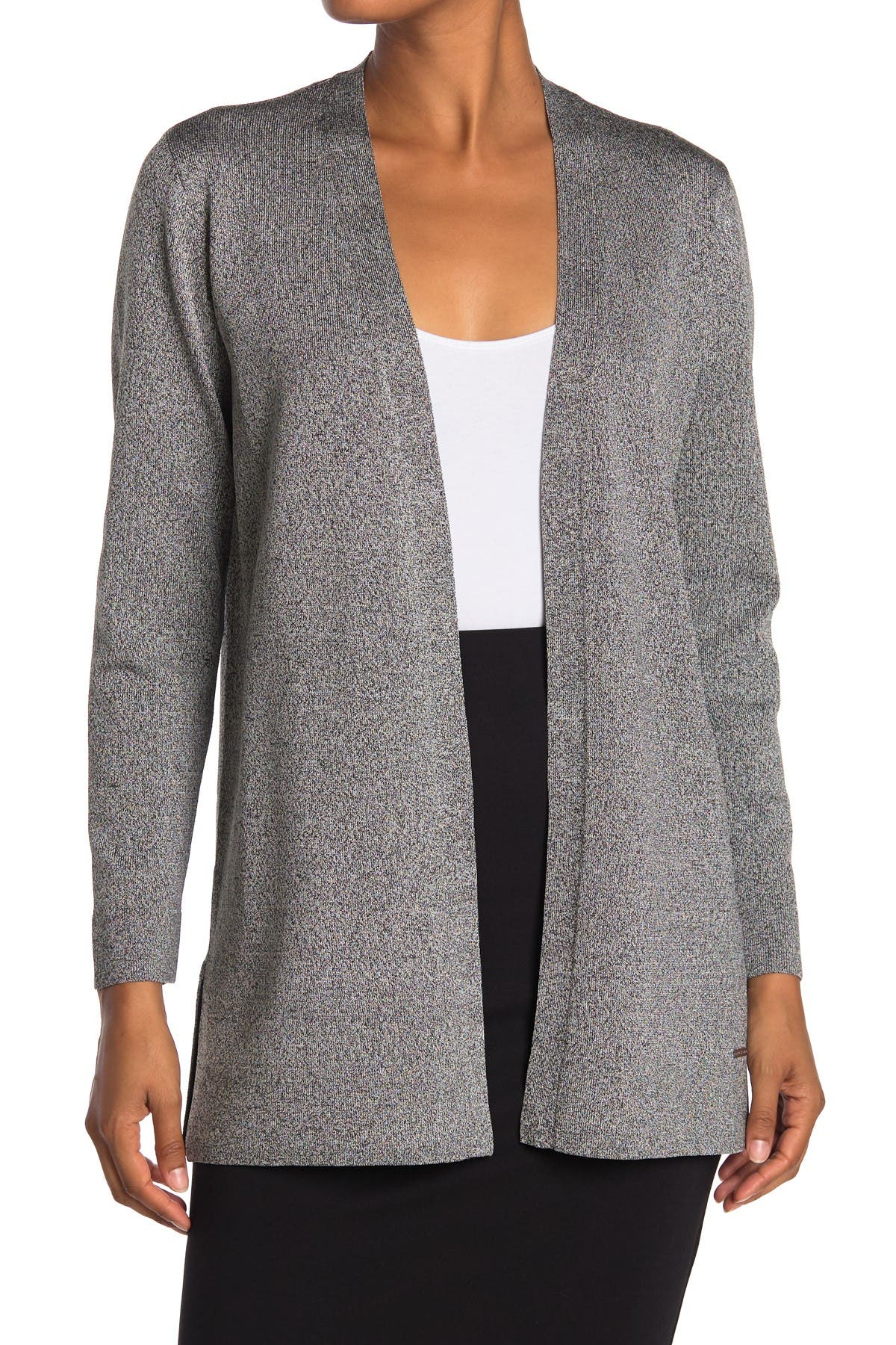 Image of T Tahari Knit Open Front Cardigan