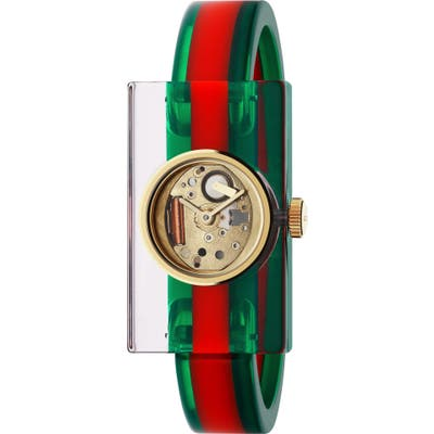 Gucci Plexiglas Bracelet Watch, 2m X 40Mm