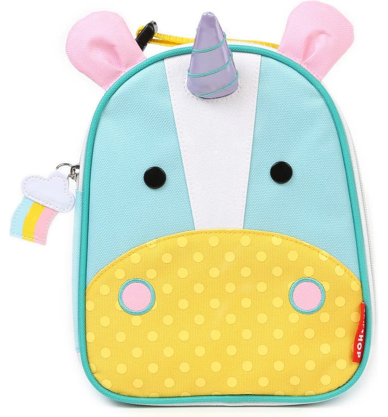 SKIP HOP 'Zoo Lunchie - Unicorn' Insulated Lunch Bag, Main, color, 103