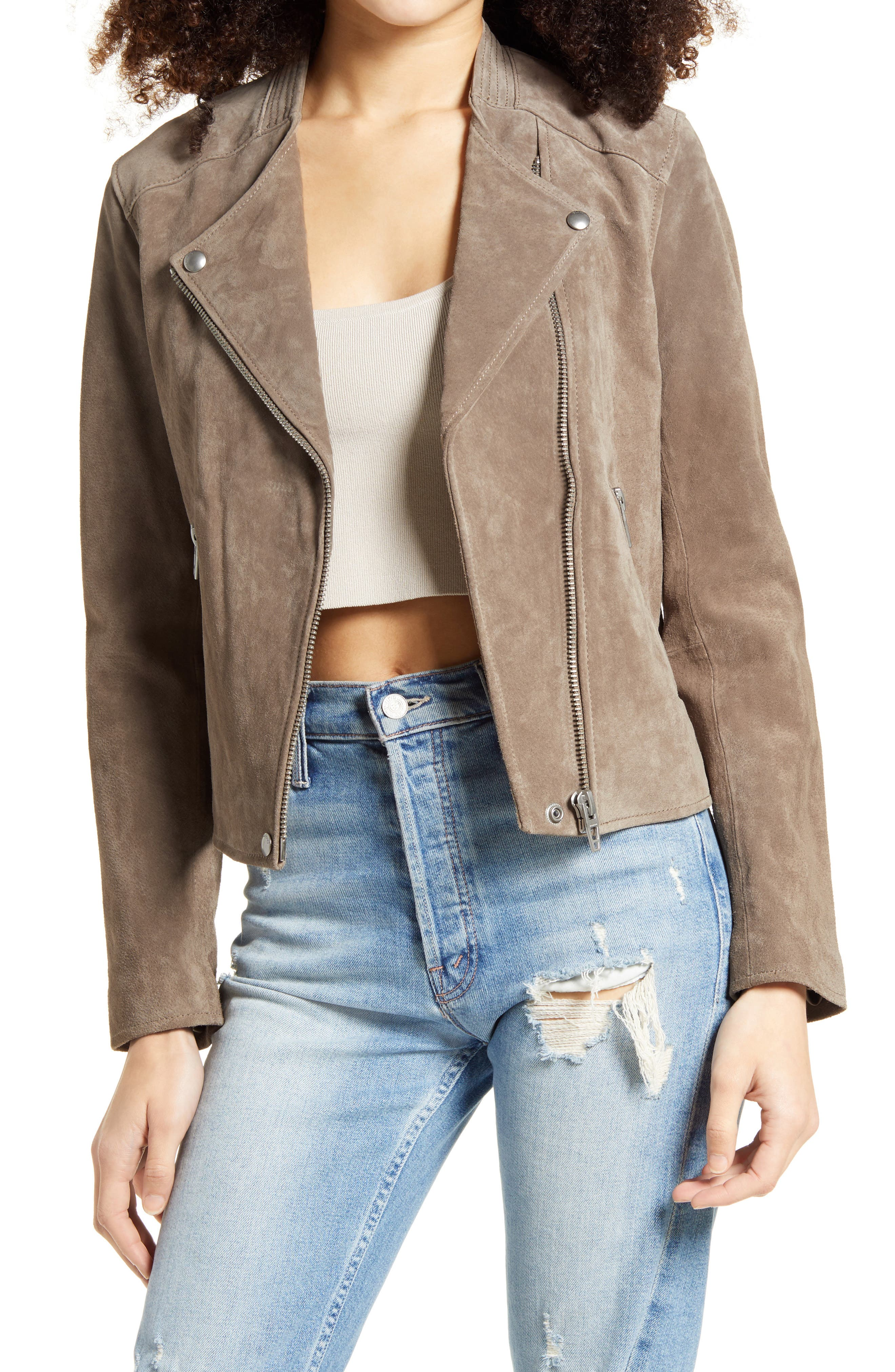 Image of BLANKNYC Denim No Limit Suede Moto Jacket