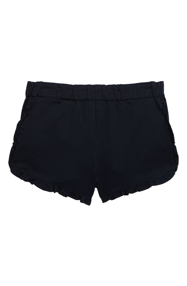 SOVEREIGN CODE Ruffle Hem Shorts, Main, color, NAVY