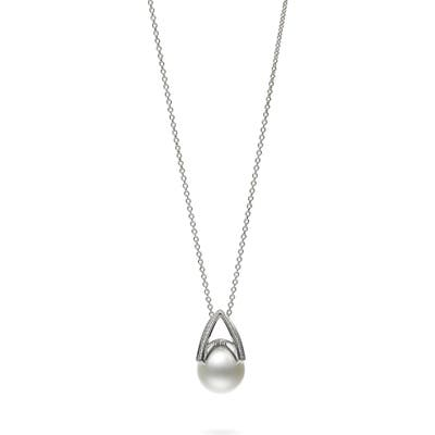 Mikimoto Cultured Pearl & Diamond Pendant Necklace